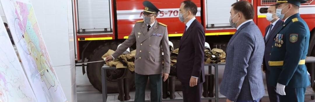 В Алматы открылась новая пожарная часть
